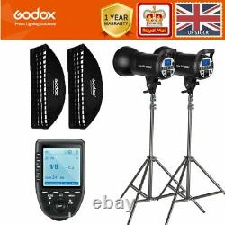 2 Godox Sk300ii 300w 2.4g Flash Stroboscopique +softboxes+light Stands+xpro-trigger Kit