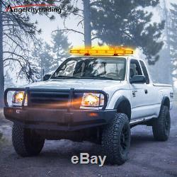 27 64 Led Light Bar Toit Dépanneuse D'urgence Gyrophare Plough Strobe Ambre