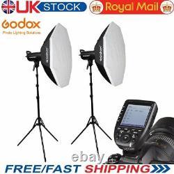 2godox Sk300ii 300w 2.4g Flash Strobe+xpro-n Pour Nikon+ Softbox Light Stand Kit