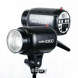 2pcs Godox E300 2x300w Studio Strobe Flash Light + Trigger + Kit Softbox