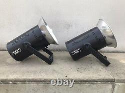 2x Bowens Mono 400d Studio Strobe Flashes + Brollies/case/reflecteurs/leads