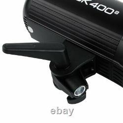 2x Godox Sk400ii 2.4g 400ws 5600k Photo Studio Strobe Flash Light Bowens Tête