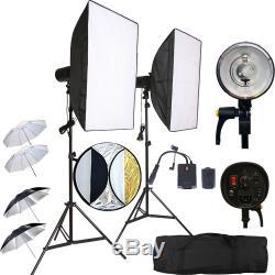 2x150w Kit Stroboscope Sans Fil Softbox Studio Light Dslr Canon Nikon Sony Trig