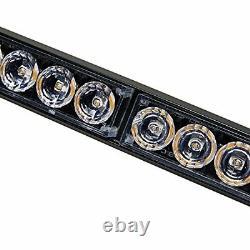36 13 Modes Traffic Advisor Emergency Warning Strobe Light Bar Kit (blanc&rouge)