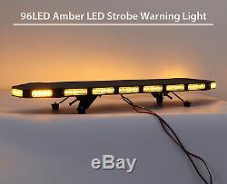 40 ' ' Lampe Clignotante D'urgence Beacon 96 Led Ambre Lumière Stroboscopique Avertissement 21 Modes