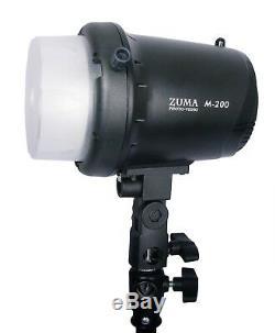 400w Flash Stroboscopique Monolight Kit Photo Studio Photographie D'éclairage Avec Le Sac Carry