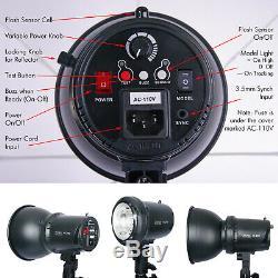 400w Flash Stroboscopique Monolight Softbox Kit Photo Studio Vidéo Photographie Éclairage