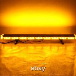 45.6 Pouces Emergency Flashing Lamp Bar 78 Led Amber Car Strobe Light Warning +
