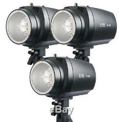 450w Flash Stroboscopique 3pcs Kit Monolight Photographie D'éclairage Photo Studio Carry Bag