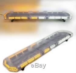 48 88 Led D'urgence Lumière Stroboscopique Orange Clignotant Avertissement Light Bar Yellowithwhite
