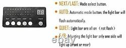 48 88 Led D'urgence Strobe Light Amber Warning Flashing Light Bar Rouge/blanc