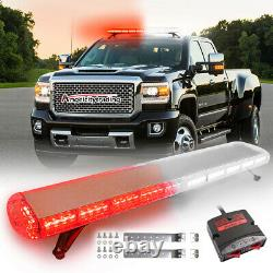 48 88 Led Roof Emergency Strobe Light Bar Warning Top Tow Truck Response Red