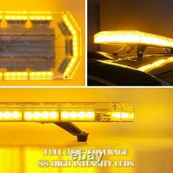 48 88led Ambre / Jaune Toit Top Strobe Light Bar Danger De Sécurité Avertissement D'urgence