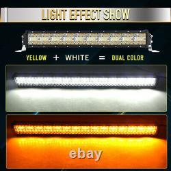 50inch Curved Led Bar Offroad 924w Amber Led Work Light Strobe Light Bar Flash