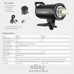 600w Godox 2x Studio De Sk300ii Photographie Strobe Flash Light Kit F Mariage