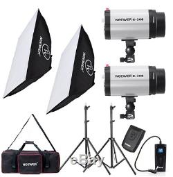 600w Photo Studio Monolight Strobe Flash Light Softbox Kit Éclairage