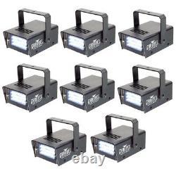 8 Chauvet Dj Ch730 Ajustable 1-12 Flash/sec Mini Strobe Led Club Effets De Lumière