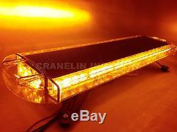 860mm 34 64w 64 Led Light Work Beacon Bar Récupération Clignotant Stroboscopique Jaune