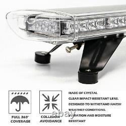 88 Led Amber Emergency Strobe Light Bar Roof Warning Flash Beacon Tow Truck 48'