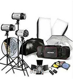 900w Studio Flash Stroboscopique Photographie Kit D'éclairage