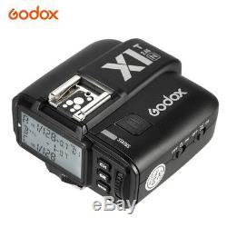 900w Uk 3x Godox Sk300ii Studio Strobe Flash Light Head + Trigger + Softbox F Nikon