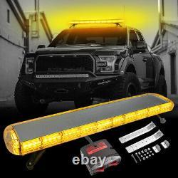Amber Emergency Light Bar Roof Led Warning Strobe Lights Remorquage Truck Response 47'