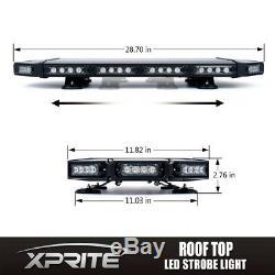 Black Hawk 27 Low Profile Risque Ambre Led D'urgence Roof Top Strobe Light Bar