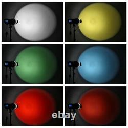 Bowens Mount Focalize Conical Snoot Flash Avec Gels Couleur Pour Strobe Light Control