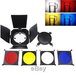 Éclairage 150w Flash Stroboscopique Kit Softbox Backdrop Parapluie Réflecteur Gel Barndoor