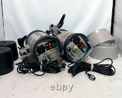 Elinchrom 500 Elinca Sa Ch-1020 Studio Strobe Lights Flashes Ensemble De 2x Deux Utilisé