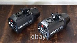 Elinchrom Brx 500 Monolight Set 8 Grid Reflectors Case 500 Ws Strobes (#7726)