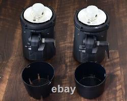 Elinchrom Brx 500 Monolight Set Avec 8 Réflecteurs Case 500 Ws Strobes (#7727)