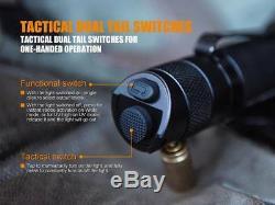 Fenix tk25uv 1000lm Uv Lampe De Poche Tactique + 2 Piles Rechargeables Et Chargeur
