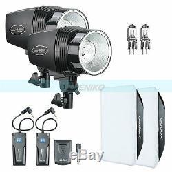 Godox 360w (2x180w) Studio De Strobe Flash Light + Trigger Softbox Kit Lampe Modélisation