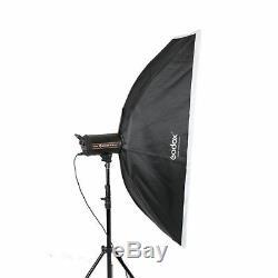 Godox 3x Qt-1200 1200w Haute Vitesse Studio Flash Stroboscopique Softbox Trigger Light Kit