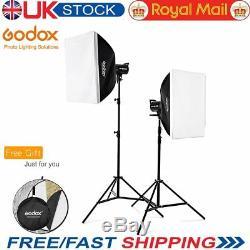 Godox De Sk400ii 400w 2.4g Studio Strobe Flash Light + 6060cm Softbox Stand Uk