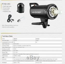 Godox Sk300ii 300ws Gn58 Stroboscope Speedlite + 95cm + 2m Grille Softbox Pied D'éclairage
