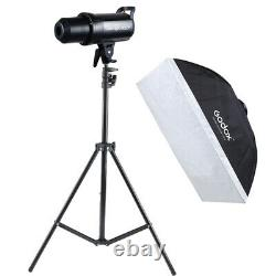 Godox Sk400ii 2.4g 400ws 5600k Studio Strobe Flash Light Bowens + Stand +softbox