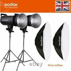 Godox Sk400ii 400ws Photo Studio Flash Strobe +2m Support Lumineux+95cm Softbox Bowen