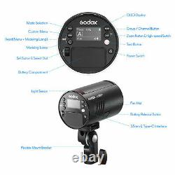 Godox Ttl Outdoor Pocket Flash 100w Photo Studio Caméra Strobe Light Batterie A++