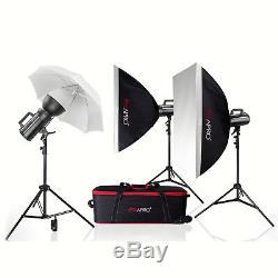 Gs400ii Cool Bowens S Fit Flash Stroboscopique Kit École Portrait Photographie 3 Points