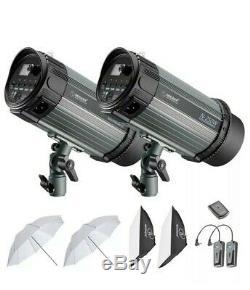 Neewer 2 Pack 250w (500w) Studio Flash Stroboscopique Monolight Photographie Kit D'éclairage