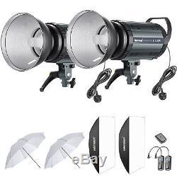 Neewer 2-pack 400w Studio Flash Stroboscopique Kit D'éclairage Avec 150w Lampe Modélisation