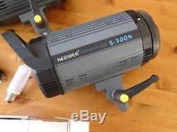 Neewer 300w Studio Flash Stroboscopique S-300n Modélisation Lumière Paire (2pcs)