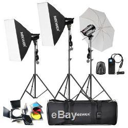 Neewer 540w (180w X 3) Pro Photographie Flash Studio Strobe Light Kit Éclairage