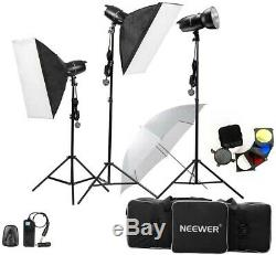 Neewer 750w (250w X 3) Professionnel Photographie Flash Studio Stroboscope