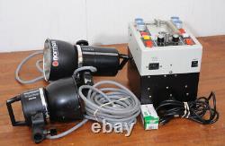 Norman P800-d Avec 2 Têtes Stroboscopiques Lh2400, 1 Avec Ventilateur, Kit Stroboscopique