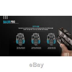 Olight Baldr Pro 1350 Pistolet Lumen Lampe De Poche Avec Laser Vert Sight (tan)