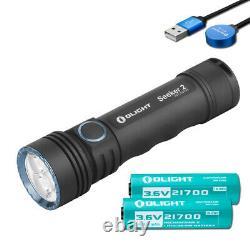 Olight Seeker 2 3000 Lumen Usb Lampe De Poche Rechargeable Led - 2x Batteries Olight