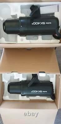 Paire De Godox Sk400ii Studio Flash Strabes Lumières Avec Stands Et Softbox